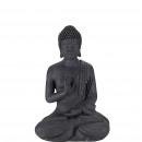 Fibercl Buddha sitting, measure 29x20x40cm, anthra